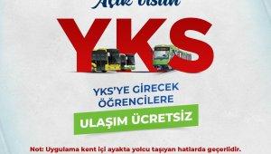 Bursa'da YKS'ye girecek öğrencilere ücretsiz ulaşım