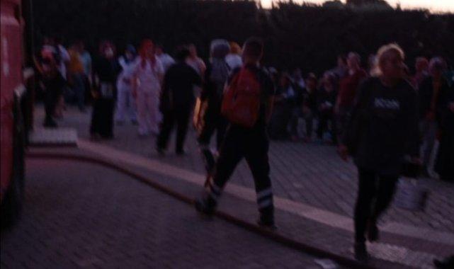 Rehabilitasyon merkezinde yangın paniği: Hastalar tahliye edildi