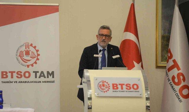 """BTSO Yönetim Kurulu Başkanı İbrahim Burkay: """"Kalkınma hedeflerimizde temel dayanağımız güçlü bir hukuk sistemidir"""""""