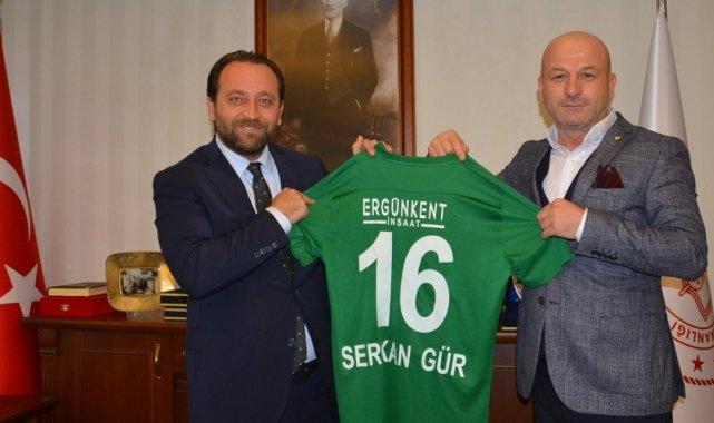 Bursaspor'dan İl Milli Eğitim Müdürü Serkan Gür'e ziyaret
